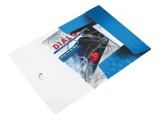 3-klepsmap Leitz WOW A4 PP blauw