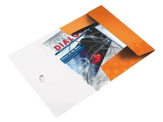 Elastomap Leitz WOW 3-kleps A4 PP oranje