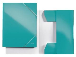 3-klepsmap Leitz WOW A4 karton ijsblauw