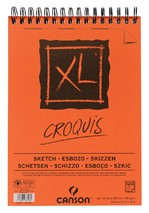 Schetsblok Canson XL Croquuis A4 90gr spiraal 120vel