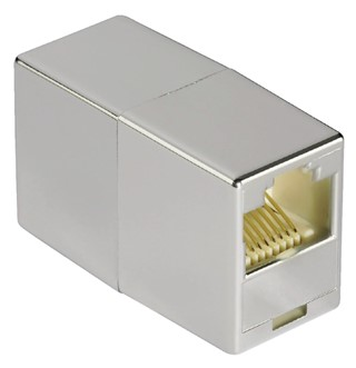 Adapter Hama CAT5e 2x RJ45 socket