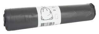 Afvalzak Blinc 60x80cm 14micron 60liter grijs 20stuks