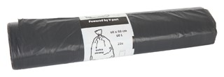 Afvalzak Cleaninq 60x80cm 14micron sterk 60liter grijs 20stuks