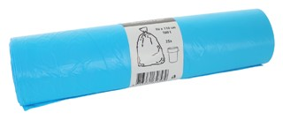 Afvalzak Blinc 80x110cm 16micron 160liter blauw 25stuks