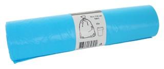 Afvalzak HDK 80x110cm 16micron 160liter blauw 25stuks
