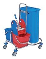 Afvalzak HDPE 70x110cm 110liter 20micron blauw doos à 500 stuks