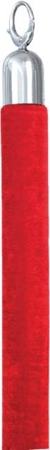 Afzetkoord Securit 150cm rood met chroome knop