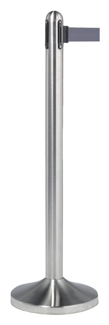Afzetpaal Securit RVS met rolband 210cm grijs