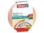 Afplaktape Tesa 25mmx25m voor rondingen