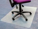 Stoelmat Floortex PVC 120x150cm voor zachte vloeren