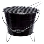 Barbecue emmer staal zwart