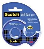 Plakband Scotch 19mmx16.5m Wall Safe + handafroller