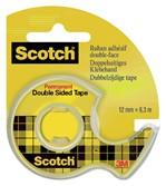 Dubbelzijdige plakband Scotch 665 12mmx6.3m + dispenser
