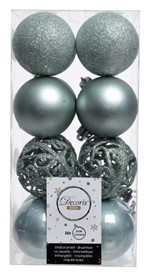 Kerstbal plastic eucalyptus 6cm