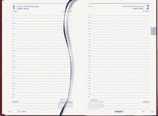 Agenda 2021 Brepols Saturnus kort 1dag/1pagina bordeaux