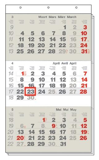 3-Maandskalender 2019 mini Manager meertalig