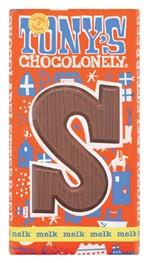 Chocolade Tony's Chocolonely Melk S 180gr