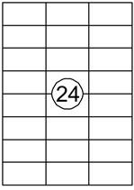 Etiket Quantore 70x37mm 2400stuks