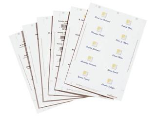 Badgekaart Durable 1455 bedrukbaar 54x90mm 200stuks