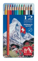 Kleurpotloden Caran d'Ache Prismalo 12stuks assorti